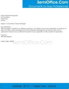 Double column cover letter